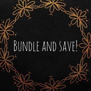 Bundle items for amazing discounts!!!